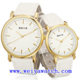 남녀 공통을%s 가진 가죽끈 시계 승진 사업 시계 (WY-1082GD)