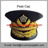 卸し売り安い中国の警察の金の陸軍将校の軍の帽子