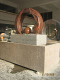Fontana naturale di rotolamento della sfera del marmo del granito in giardino