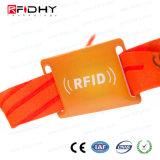Wristbands tessuti con i Wristbands del nastro RFID di festival della serratura della trasparenza dei denti