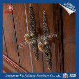 Scaffale di legno con il portello di vetro (AI310)