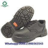 鋼鉄つま先の鋼板が付いている革安全靴