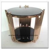 De nieuwe Hete Verkoop van de koffietafel van het Glas met de Lijst van het Ontwerp van de Fabriek