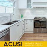 Gabinetes de cozinha brancos americanos por atacado da madeira contínua (ACS2-W07)