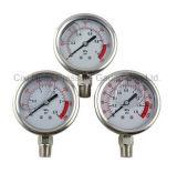 2.5inches olie - de gevulde Meter van de Druk van het Roestvrij staal/Manometer