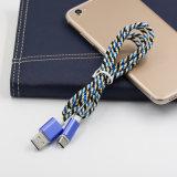 유형 C 이동 전화 부속품을%s 다채로운 땋는 USB 데이터 케이블