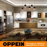 China-neue Ankünfte weiß und hölzernes Korn-spezielle Ende-Küche-Schrank-Möbel (OP16-122)