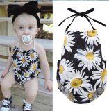 新生の女の赤ちゃんの幼児レースのロンパースのジャンプスーツのBodysuitの服の用品類