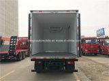 Carro del refrigerador de Sinotruk 4X2 carro del transporte de los mariscos de 5 T