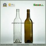 750ml antiguo del vidrio verde Botella del vino de Burdeos (NA-001)