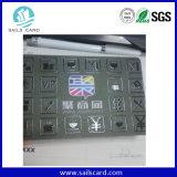 Cartão plástico do PVC da impressão UV do ponto
