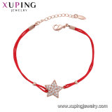 75562 China Wholesale Xuping Moda Elegante pulsera de color oro rosa de zirconio