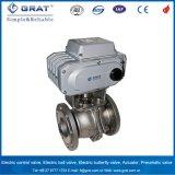 Soupape de commande électrique d'acier inoxydable de bride de Pn16 Dn50 pour la régulation de la température