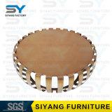 Mesa de centro casera del hierro labrado del vector de la cara del oro de los muebles