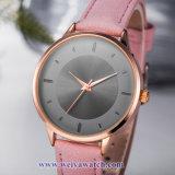 Cuir OEM Mesdames montres quartz wist, Lady femme Watch (WY-17033)