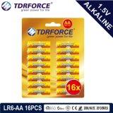 1.5volt Non-Rechargeable Droge Batterij van China van Vervaardiging lr6/Am-3 met ISO Goedgekeurde 12pack de 2006-66-EG