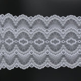 Tissu de fantaisie de bande de lacet de garniture 22 cm de large par la cour