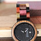 사치품은 모든 자연적인 남자의 나무로 되는 시계 2018년을 손으로 만들었다