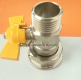 Robinet à tournant sphérique de gaz de robinet à tournant sphérique d'avant de compteur à gaz