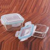 De microgolf-veilige Prep Containers van de Maaltijd van het Glas met het Deksel van het Sluiten