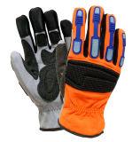 TPR Impact-Resistant Anti-Abrasion механической защиты безопасности рабочие перчатки