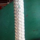 80mm 24 Strang-doppeltes umsponnenes Polyester-Haustier-Liegeplatz-Trosse-Seil mit konkurrenzfähigem Preis