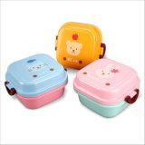 Casella di pranzo di plastica di Bento del contenitore di alimento per il bambino 20003