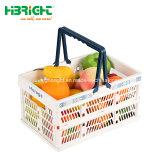 Frutas dobrável de plástico dobráveis cestos de vegetais
