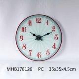 Reloj de pared de cristal templado con la impresión en papel para uso diario