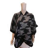 De Sjaal van Ruana van de Kaap van dame Winter Fashion Knitting Houndstooth Omslag
