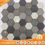 De in het groot Willekeurige Tegel van de Muur van het Mozaïek van het Porselein Lappato van het Patroon van de Kleur Hexagon (W9555018)