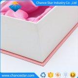 Logo estampé personnalisé de la texture du papier Boîte en carton fleur