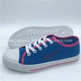女性(ZL1017-20)のための標準的なズック靴の余暇の履物の靴