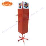 4 Côtés étage d'exposition permanente de l'affichage rotatif en métal Stand pour la pendaison de crémaillère