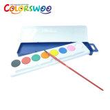 L'arte fornisce la torta di colore di acqua di 12*2.8cm per la pittura e l'illustrazione W1228