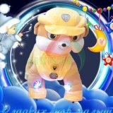 硬貨によって作動させる子供はおもちゃモールのための電気犬のプラシ天の動物の乗車に乗る