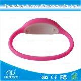 Wristband riutilizzabile stampabile personalizzato del Wristband 13.56MHz F08 RFID del silicone