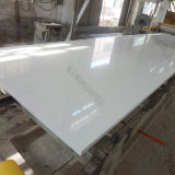 Polido de alta engenharia Pure White Stone Lajes de quartzo Artificial