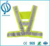 Veste verde reflexiva elevada da segurança do ISO 20471 do En