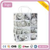 Joyas de moda plata revestido de arte bolsa de papel de regalo
