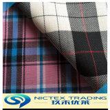 Tartan tissu de polyester de laine mélangée costume, de la laine costume en tissu, tissu tartan Vérifier convenant