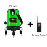 Romote制御を用いる緑の十字2ラインレーザーのレベル