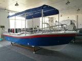 Liya 5.8mのガラス繊維のボート水タクシーのボートの長距離回線部門の漁船