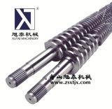 Конический цилиндр экструдера и установочный винт на низкий уровень кальция ПВХ трубы с коническими парных шнековая пара используется в машине экструдера
