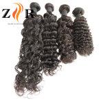 自然なカラー毛の加工されていないインドのバージンのRemyの人間の毛髪のよこ糸もつれ無し