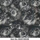 Pellicola nera no. S045y2653b della signora Skull Water Transfer Printing