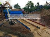 Processo aluvial do Trommel da mineração do ouro em África do Sul