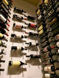 De moderne Muur Opgezette Pinnen van het Rek van de Wijn van het Aluminium van het Rek van de Kelder van de Wijn