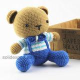 ニットの人形ストラップの小熊座「s DIY材料袋