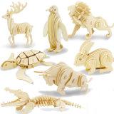 Jouets éducatifs de l'insecte 3D d'enfants de véhicule en vrac de casse-tête animal en bois des nécessaires DIY